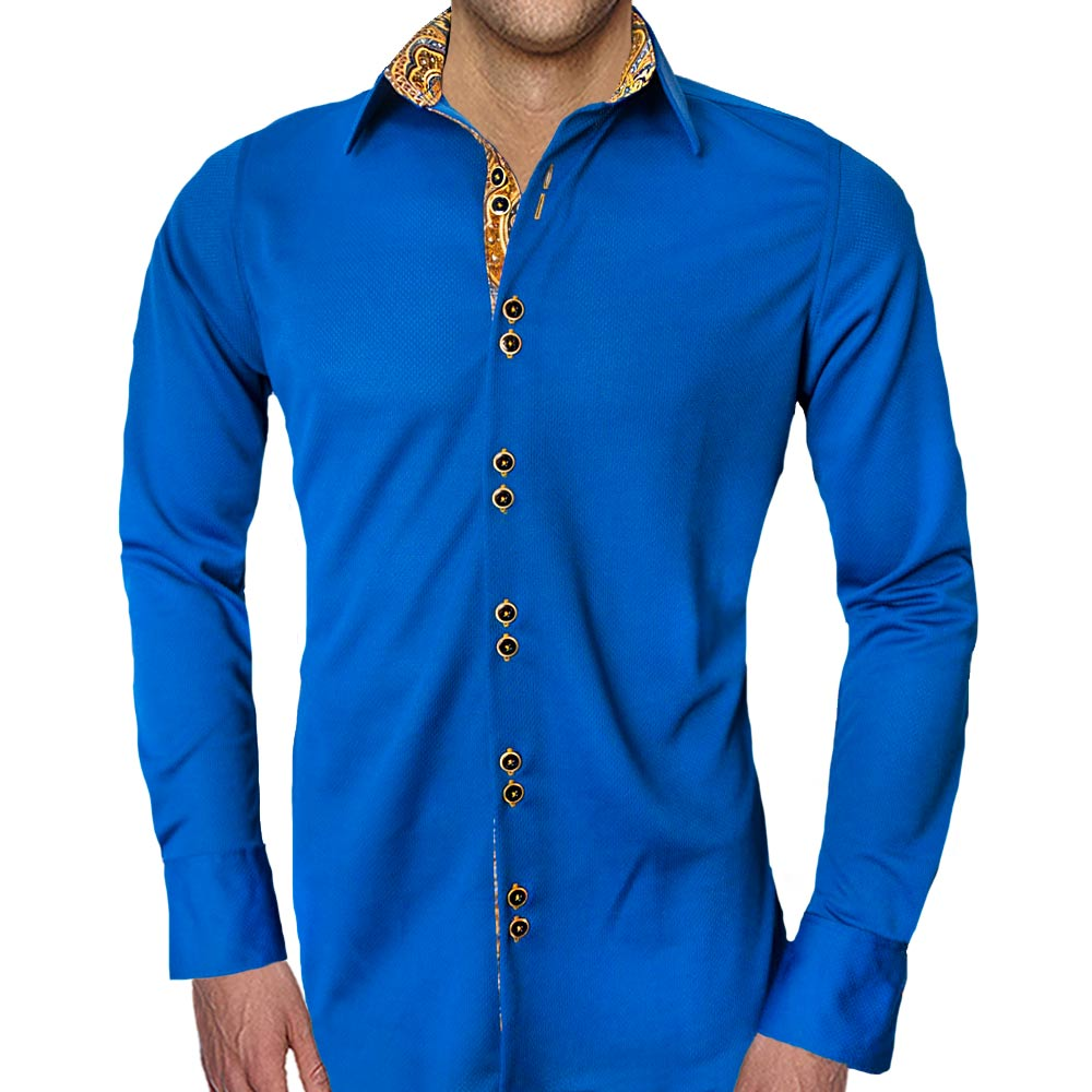 Navy-Blue-with-Gold-Dress-Shirts