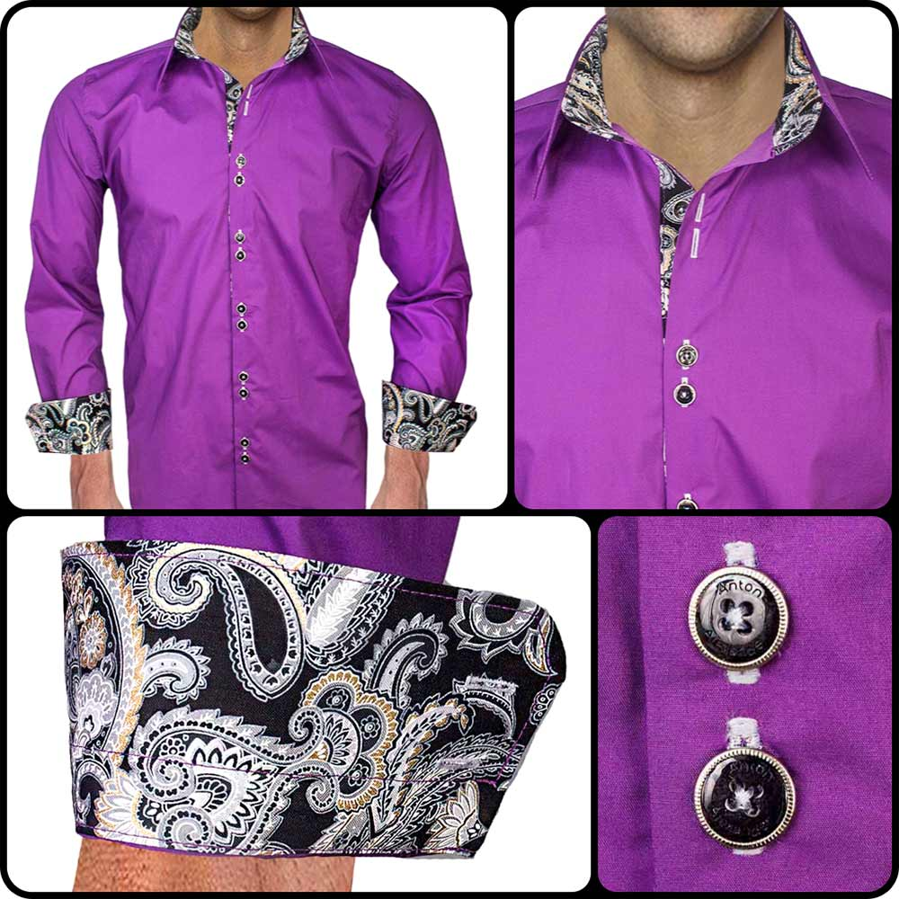 Purple-with-Black-Dress-Shirt