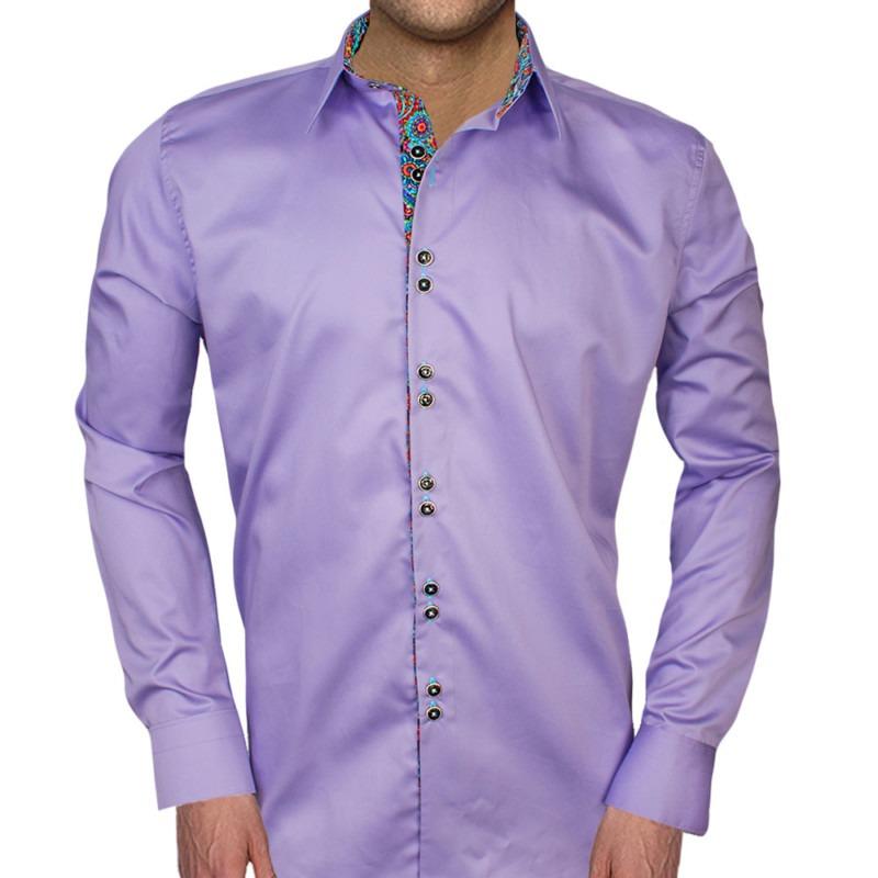 Purple-with-Colored-Cuff-Dress-Shirts