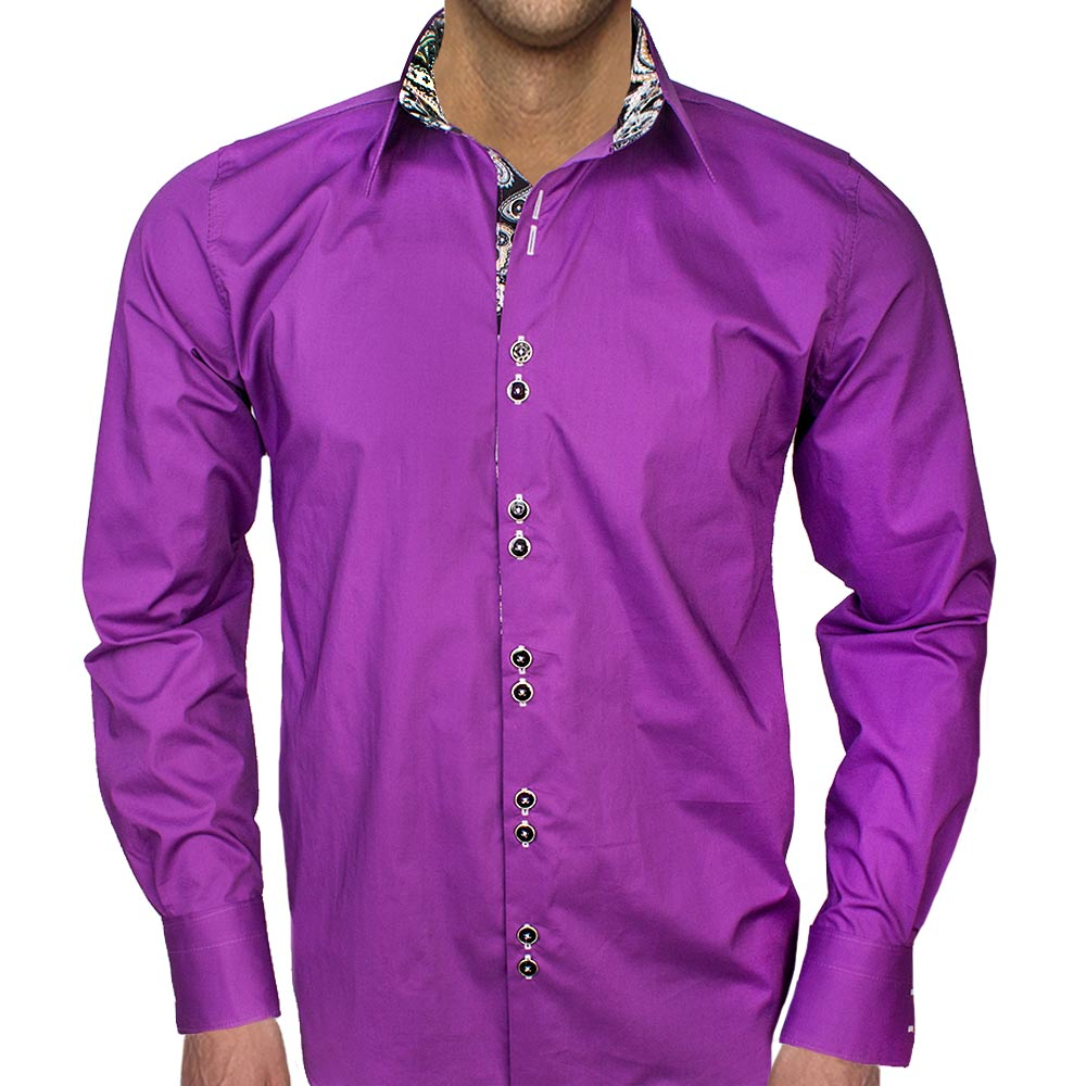 Purple-with-black-accent-dress-shirts