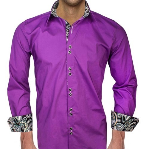 Purple-with-black-dress-shirts