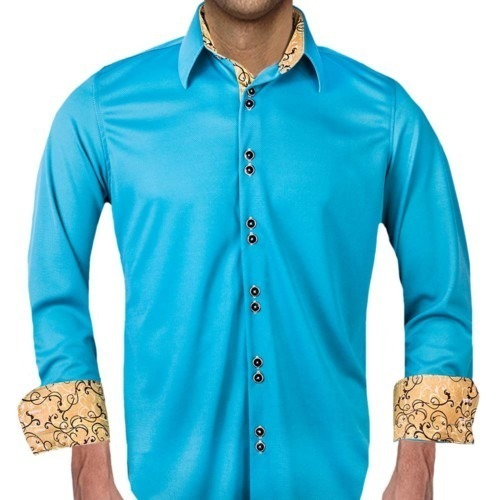 Teal-and-Tan-Dress-Shirts