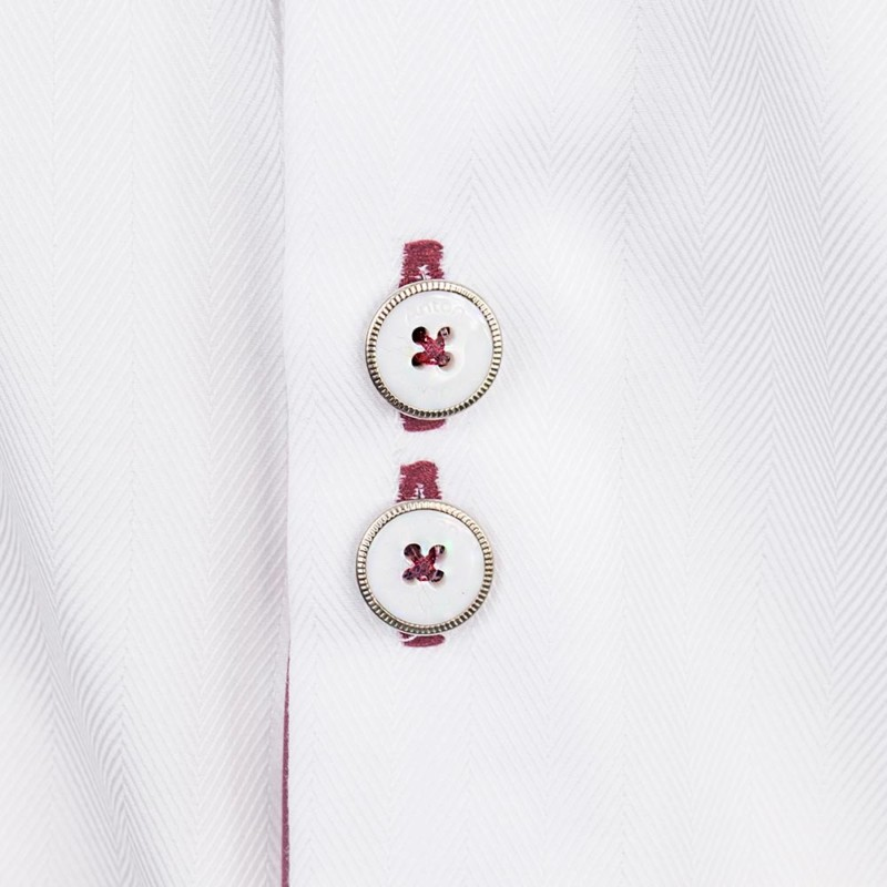 White and Maroon Dress Shirts