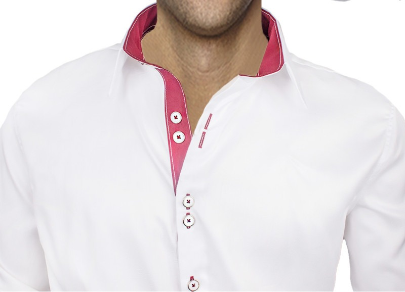 White-and-Maroon-Dress-Shirts-for-Wedding