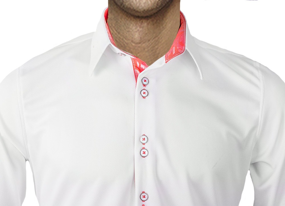 White-with-Coral-Dress-Shirts
