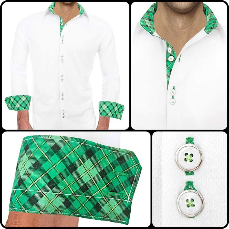 White-with-Green-Dress-Shirts