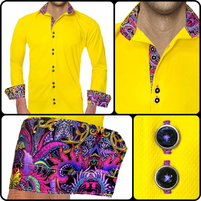 Yellow-with-Purple-Accent-Dress-Shirts
