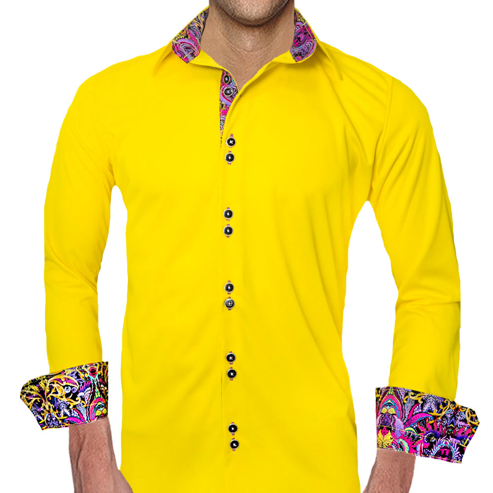 Yellow-with-Purple-Dress-Shirts