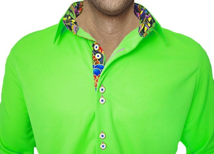 Bright-green-casual-shirts