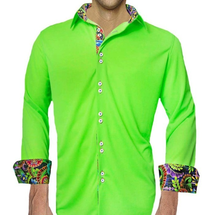 Neon-green-and-purple-dress-shirts