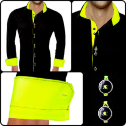 Black-with-Neon-Dress-Dress-Shirts