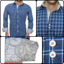 Blue-Plaid-Modern-Dress-Shirts