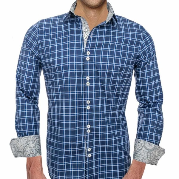 Blue-Plaid-with-Grey-Accent-Dress-Shirts
