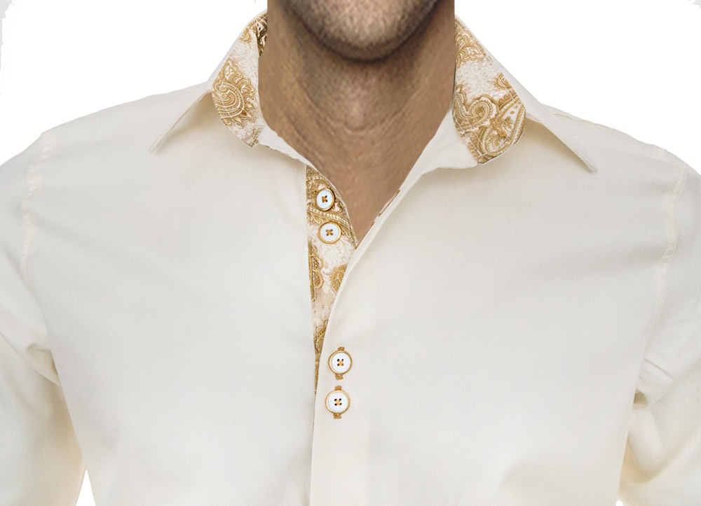 Cream-and-Gold-Dress-Shirts