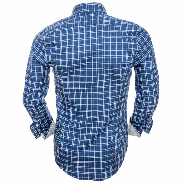 Navy-Plaid-Dress-Shirts