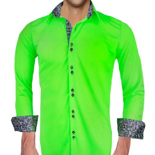 Neon-green-with-black-dress-shirts