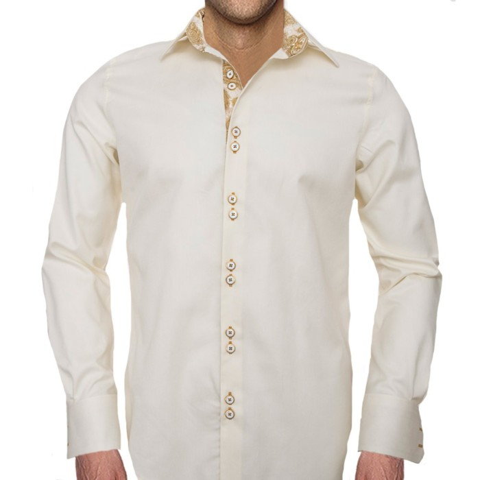 Cream-and-Gold-Accent-Dress-Shirts