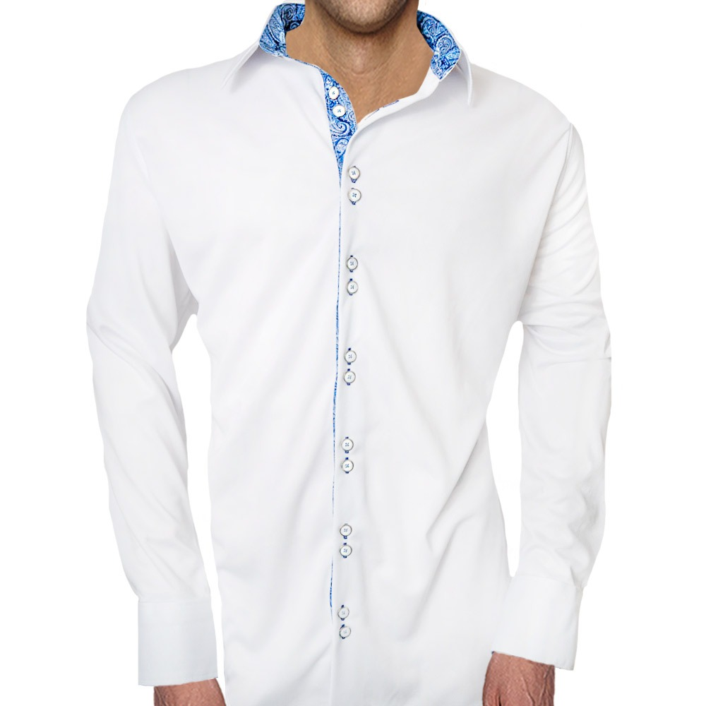 White-with-blue-casual-shirts