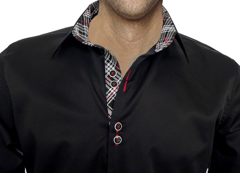 Black-Grey-and-Red-Dress-Shirts