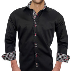 Black-Red-Plaid-Dress-Shirts
