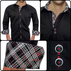 Black-and-Red-Plaid-Dress-Shirts