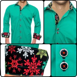 Green-Chritmas-Casual-Shirts