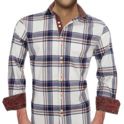Ivory-Plaid-Dress-Shirts