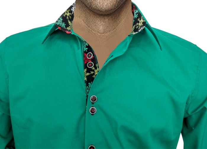 Mens-Green-Christmas-Shirts