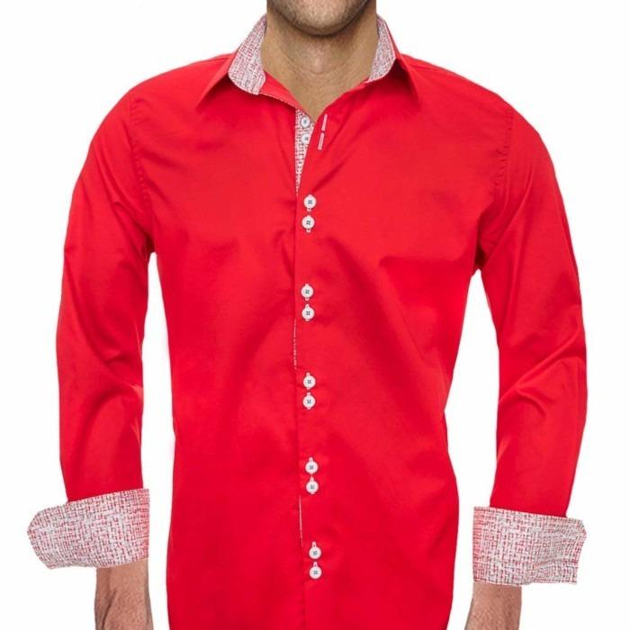 Mens-Red-Christmas-Dress-Shirts