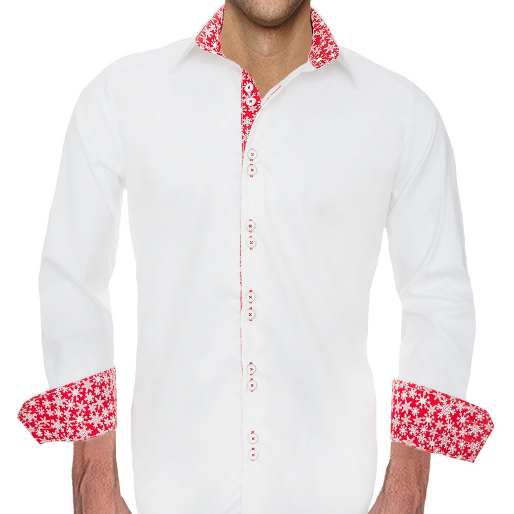 White-Christmas-Dress-Shirts