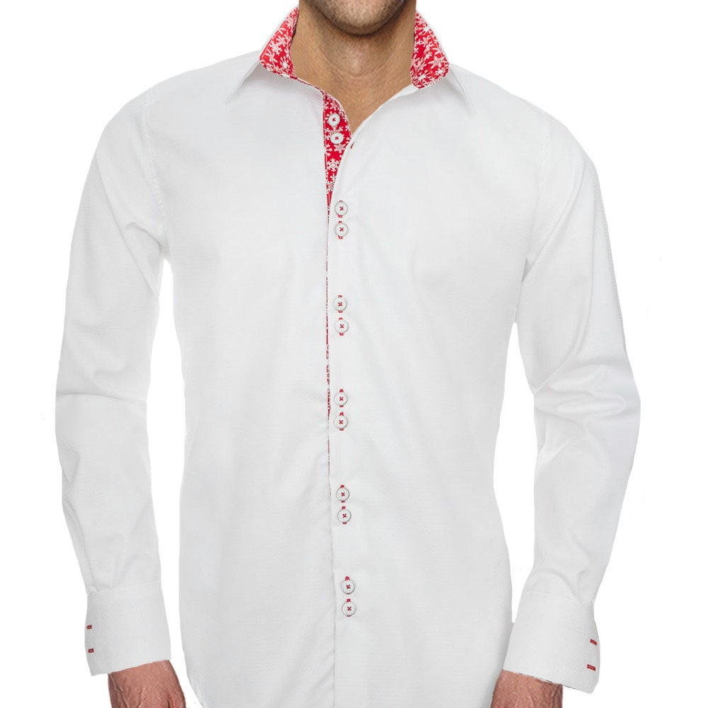 White-with-Red-Accent-Christmas-Shirts