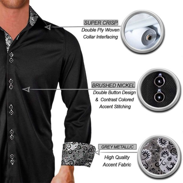 Black-with-grey-accent-dress-shirts