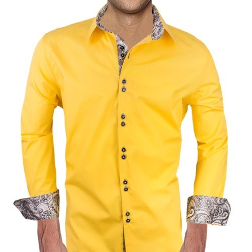 Bright-Yellow-with-Grey-Dress-Shirts
