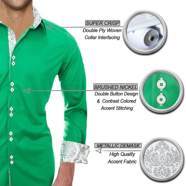 Green-with-white-dress-shirts