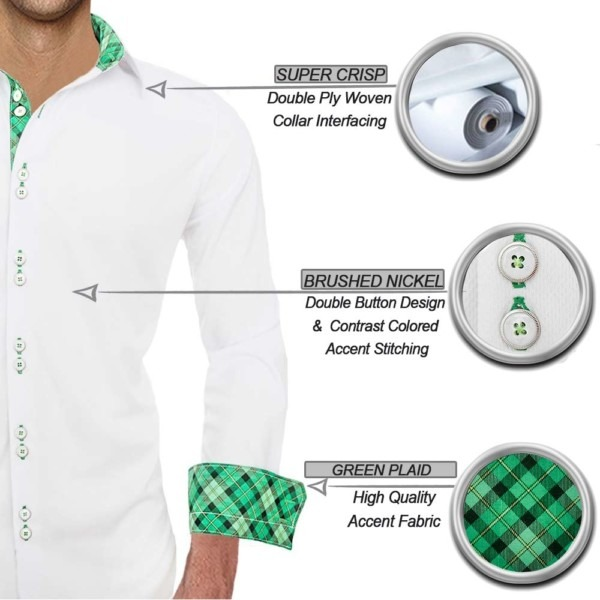 White-with-Green-plaid-dress-shirts