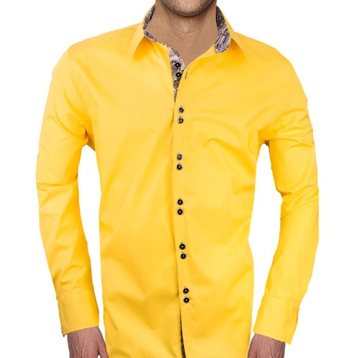 Yellow-and-Grey-Dress-Shirts