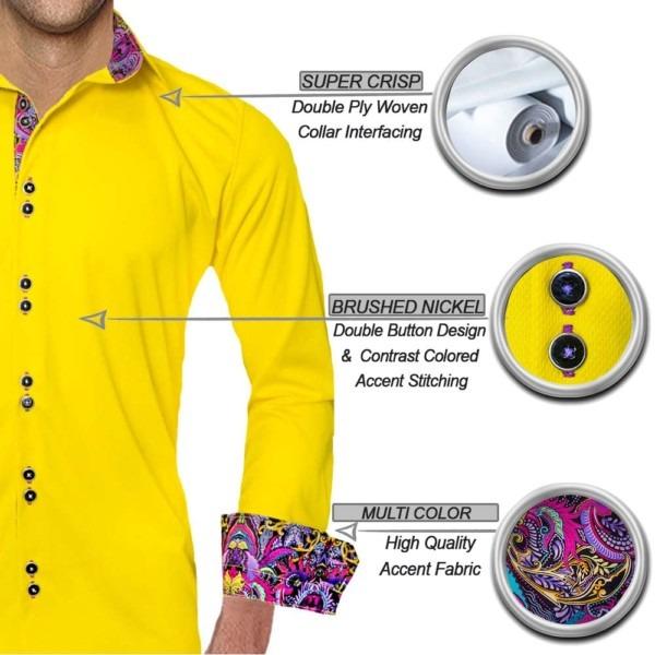 Yellow-with-purple-dress-shirts