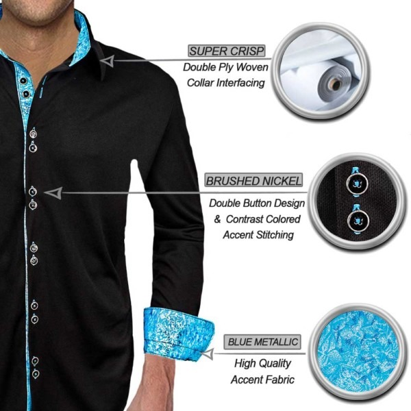 black-with-light-blue-dress-shirts