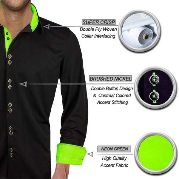 black-with-neon-green-dress-shirts
