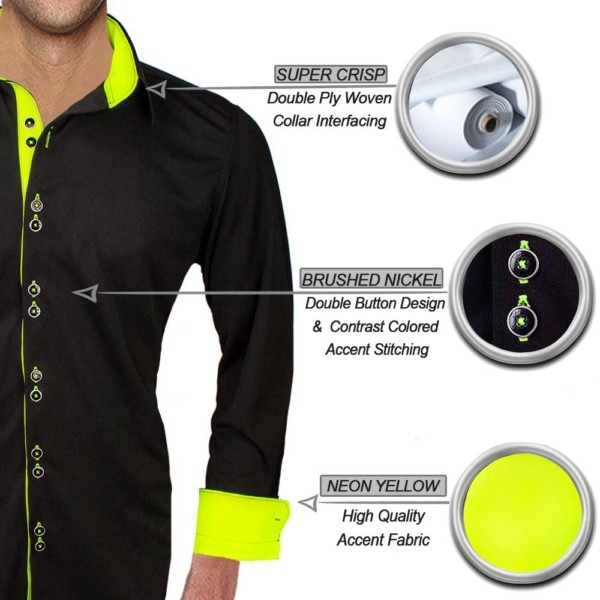black-with-neon-yellow-dress-shirts