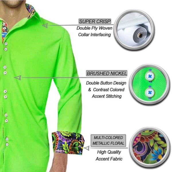 neon-green-mutli-colored-dress-shirts