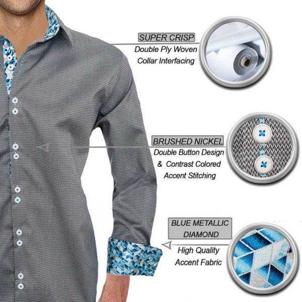 Grey with Blue Dress Shirts