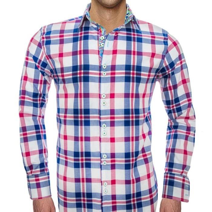 Blue-and-pink-plaid-shirts