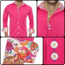 Bright-Pink-Casual-Mens-Shirts