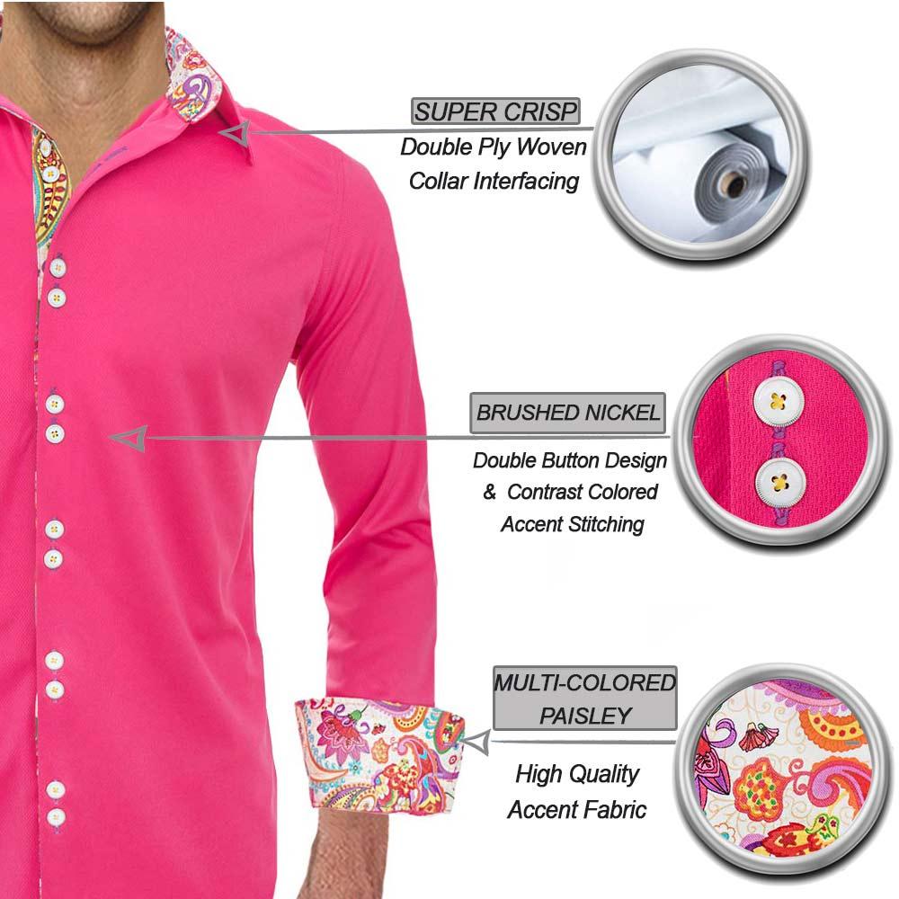 Bright-Pink-Casual-Shirts