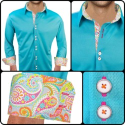 Bright-Teal-Mens-Shirts