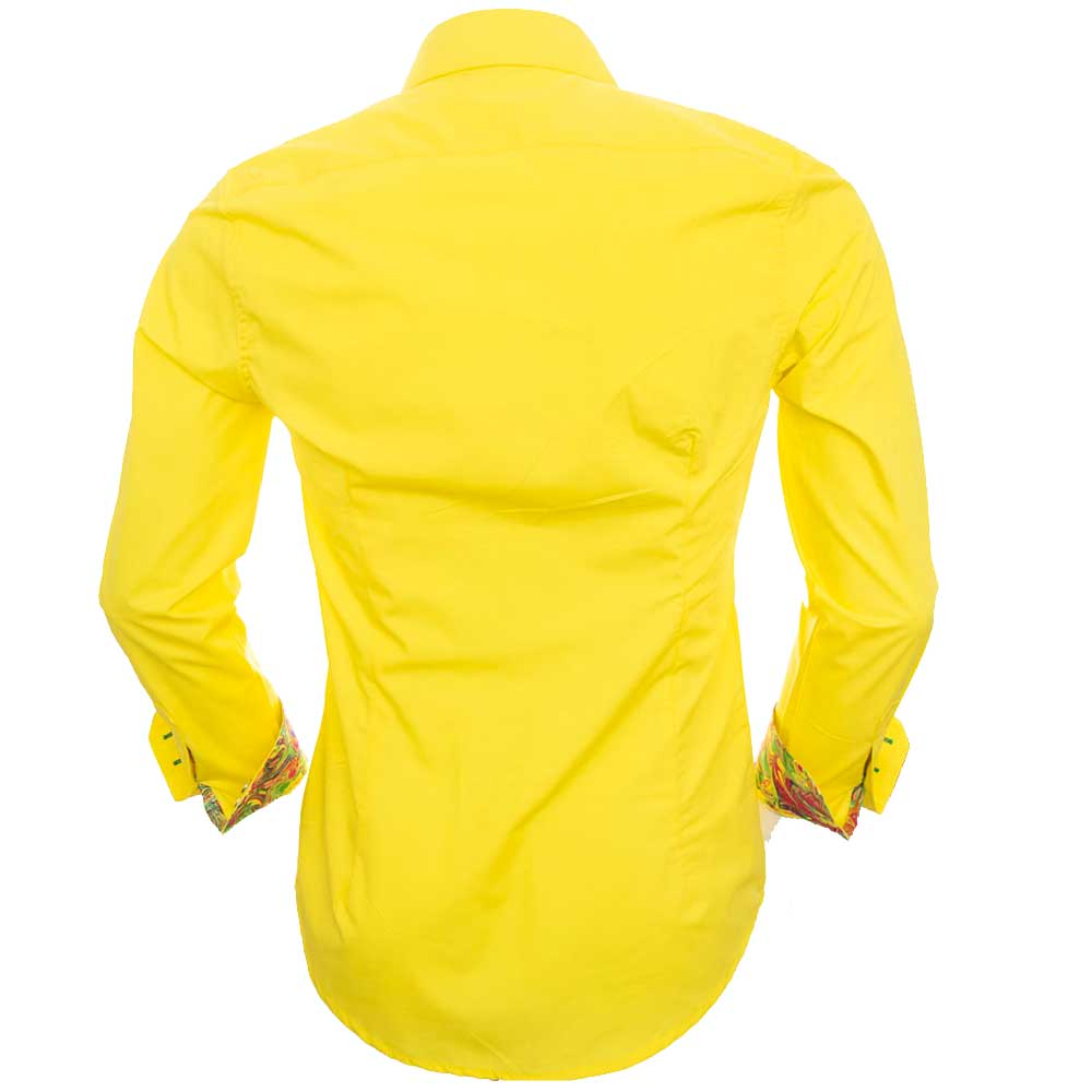 Bright-yellow-casual-shirts