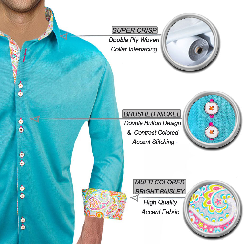 Bright Teal Casual Shirts