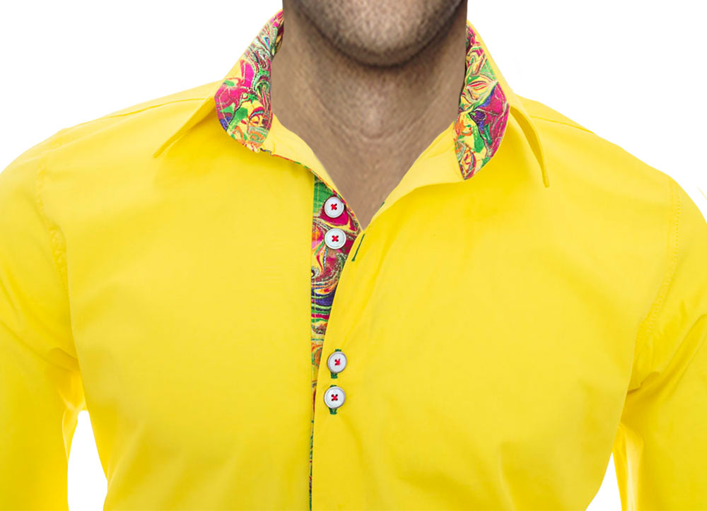 Designer-Yellow-Dress-Shirts