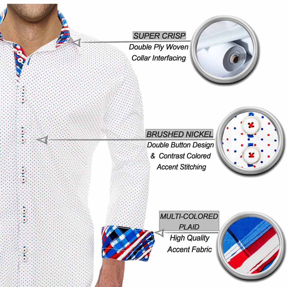 Red White and Blue Dress Shirts